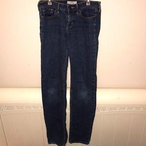 Dark Wash Hollister Straight Legged Jeans